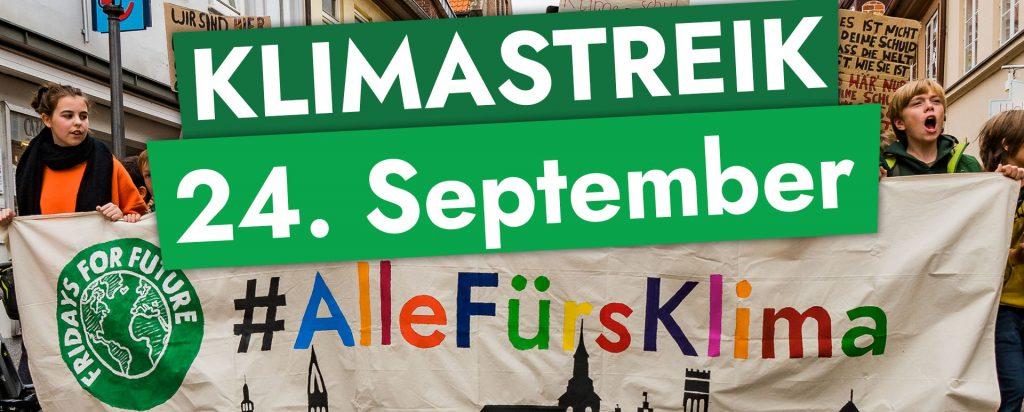 Klimastreik Banner
